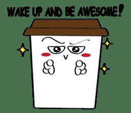 Koffie sticker #7090480