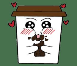 Koffie sticker #7090484