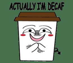 Koffie sticker #7090487