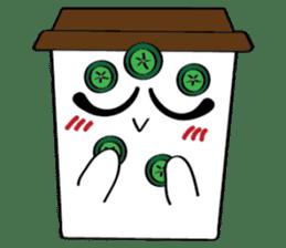 Koffie sticker #7090490