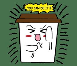 Koffie sticker #7090492