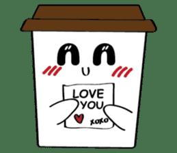 Koffie sticker #7090496
