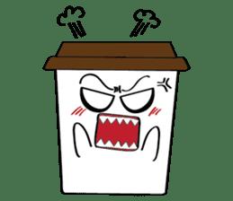 Koffie sticker #7090497