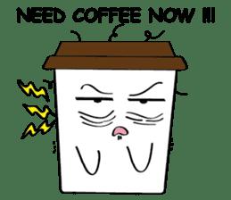 Koffie sticker #7090504