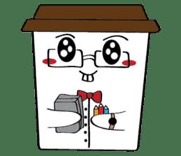 Koffie sticker #7090505