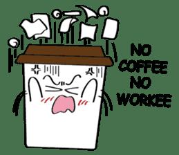Koffie sticker #7090507
