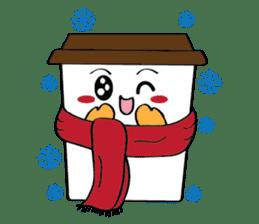Koffie sticker #7090513