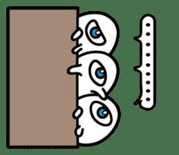 One eyed egg family, English version sticker #7090726