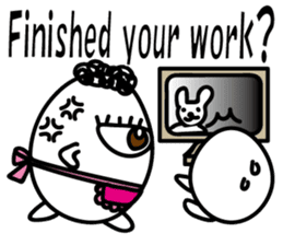 One eyed egg family, English version sticker #7090733