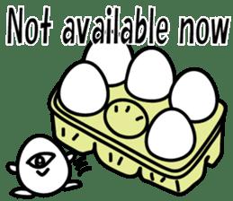 One eyed egg family, English version sticker #7090755