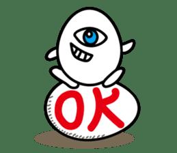 One eyed egg family, English version sticker #7090756