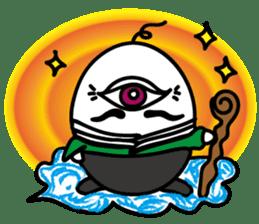 One eyed egg family, English version sticker #7090759