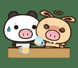 Pig Bunny Baby & Pig Bear III(True love) sticker #7094601