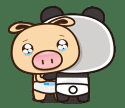Pig Bunny Baby & Pig Bear III(True love) sticker #7094602