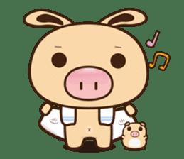 Pig Bunny Baby & Pig Bear III(True love) sticker #7094606