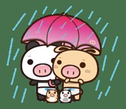 Pig Bunny Baby & Pig Bear III(True love) sticker #7094611