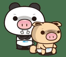 Pig Bunny Baby & Pig Bear III(True love) sticker #7094612