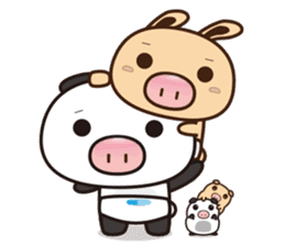 Pig Bunny Baby & Pig Bear III(True love) sticker #7094613