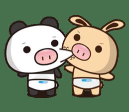 Pig Bunny Baby & Pig Bear III(True love) sticker #7094614