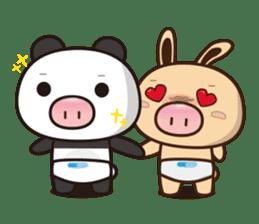 Pig Bunny Baby & Pig Bear III(True love) sticker #7094616