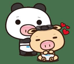 Pig Bunny Baby & Pig Bear III(True love) sticker #7094617