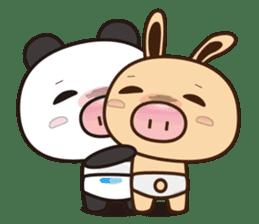 Pig Bunny Baby & Pig Bear III(True love) sticker #7094618