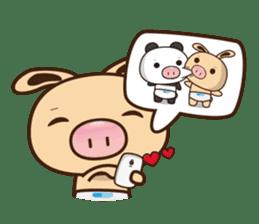 Pig Bunny Baby & Pig Bear III(True love) sticker #7094620