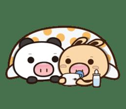 Pig Bunny Baby & Pig Bear III(True love) sticker #7094626