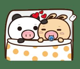 Pig Bunny Baby & Pig Bear III(True love) sticker #7094627