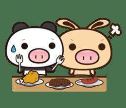 Pig Bunny Baby & Pig Bear III(True love) sticker #7094630