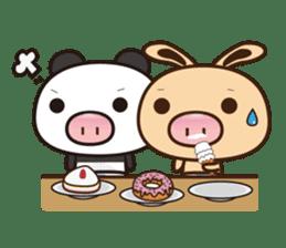 Pig Bunny Baby & Pig Bear III(True love) sticker #7094631