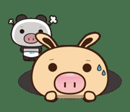Pig Bunny Baby & Pig Bear III(True love) sticker #7094632