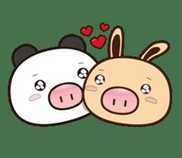 Pig Bunny Baby & Pig Bear III(True love) sticker #7094634