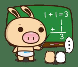 Pig Bunny Baby & Pig Bear III(True love) sticker #7094636