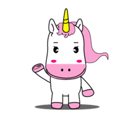 Unicorn is always single minded person. sticker #7095964