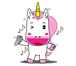 Unicorn is always single minded person. sticker #7095971