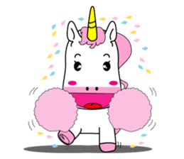 Unicorn is always single minded person. sticker #7095975