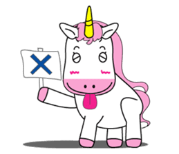 Unicorn is always single minded person. sticker #7095978