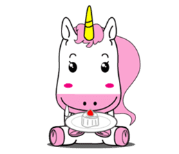 Unicorn is always single minded person. sticker #7095985