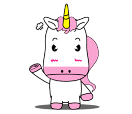 Unicorn is always single minded person. sticker #7095988