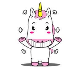 Unicorn is always single minded person. sticker #7095989
