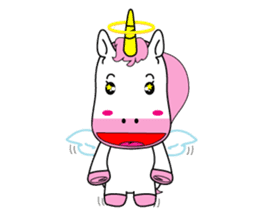 Unicorn is always single minded person. sticker #7095995