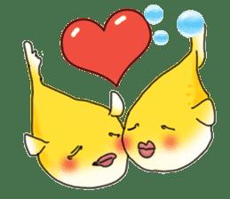 Yellow boxfish sticker #7100605