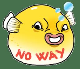 Yellow boxfish sticker #7100607