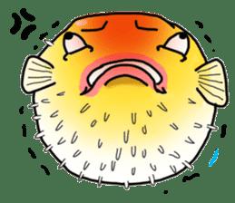 Yellow boxfish sticker #7100612
