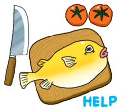 Yellow boxfish sticker #7100620