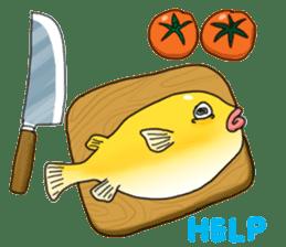 Yellow boxfish sticker #7100620