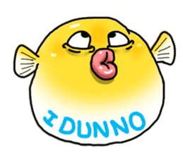 Yellow boxfish sticker #7100621