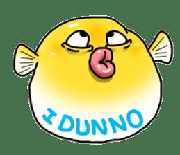 Yellow boxfish sticker #7100621