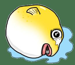 Yellow boxfish sticker #7100622